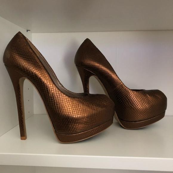 Shoes   Bronze Colored Heels   Poshmark
